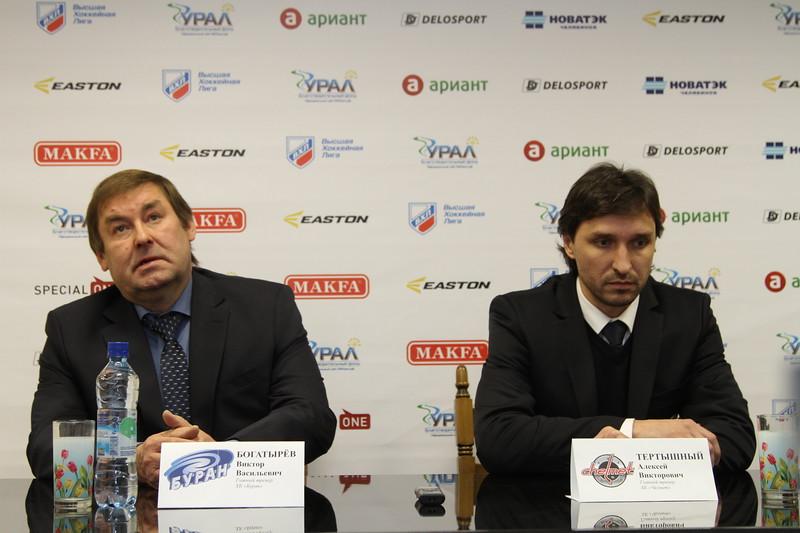 Главный тренер челябинского Челмета Алексей Тертышный и главный тренер воронежского Бурана Виктор Богатырёв прокомментировали матч, в котором Буран выиграл со счётом 1:0.