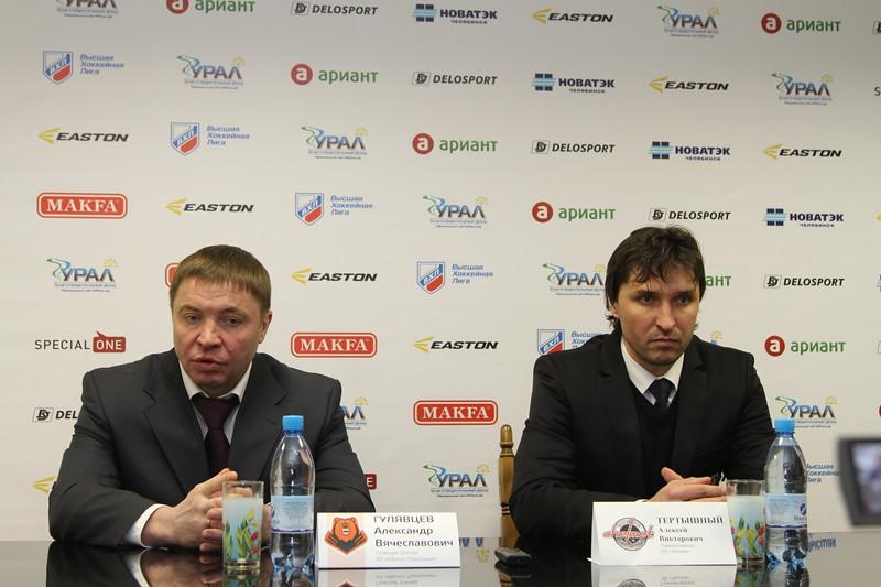 Главный тренер челябинского Челмета Алексей Тертышный и главный тренер пермского Молота-Прикамье Александр Гулявцев прокомментировали матч, в котором Челмет выиграл со счётом 5:3.