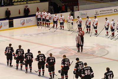 Челябинская команда Высшей хоккейной лиги Челмет выиграла в Красноярске у местного Сокола со счётом 3:0.