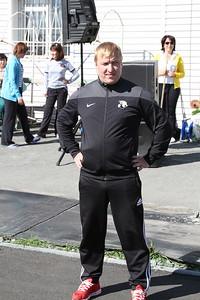 Алексей Заварухин на Дне физкультурника в Коркино
