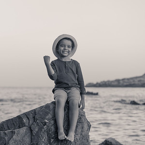 детска фотосесия на плажа