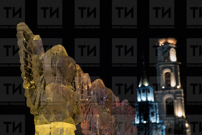 Россия. Казань. 19.01.2018 - Крещение в Раифском монастыре (фото: Ильнар Тухбатов/ ИА Татар-Информ) ледовый городок