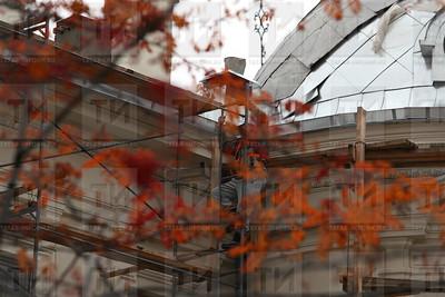 18.10.17 Ремонт кровли ГМИИ  (фото: Михаил Захаров / ИА Татар-Информ )