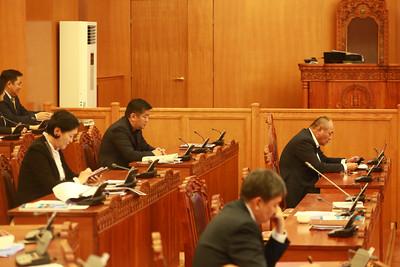 2018 оны аравдугаар  сарын 05. Улсын Их Хурлын чуулганы өнөөдрийн нэгдсэн хуралдаанаар Монгол Улсын 2019 оны төсвийн тухай хуулийн төслүүдийн нэг дэх хэлэлцүүлгийг хийлээ.   ГЭРЭЛ ЗУРГИЙГБ.БЯМБА-ОЧИР/MPA