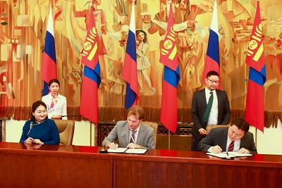 2018 оны зургаадугаар сарын 06. Монгол, Оросын санаачилга-2018 эдийн засгийн чуулга уулзалт.  ГЭРЭЛ ЗУРГИЙГ Б.БЯМБА-ОЧИР/MPA