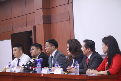 """2019 оны наймдугаар сарын 07. """"Монгол Хятадын экспо-2019"""" үзэсгэлэнгийн талаар мэдээлэл хийлээ.  ГЭРЭЛ ЗУРГИЙГ Г.БАЗАРРАГЧАА /MPA"""