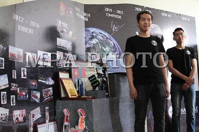 """2019 оны зургаадугаар сарын 4.  """"Нано хиймэл дагуул ба Шинэ боломж"""" буюу Монгол Улсын хоёр дахь хиймэл дагуулыг зохион бүтээх """"Тэмүүлэл"""" төслийн танилцуулга боллоо. ГЭРЭЛ ЗУРГИЙГ Э.ОНОНГОО/MPA"""