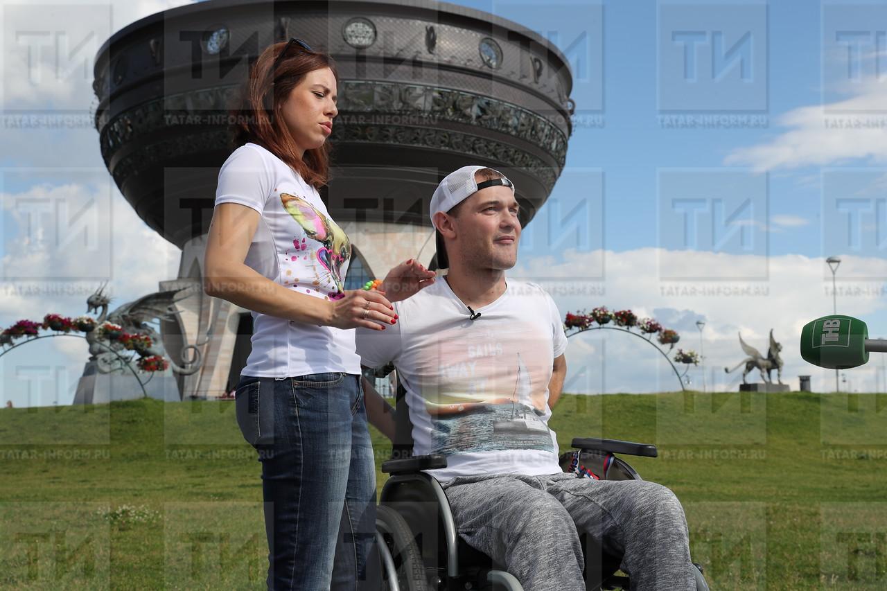 12.07.2017 Инвалид - колясочник - выдача технической реабилитации фото Рамиля Гали