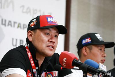 """2019 долоодугаар сарын 17. Монголын бартаат замын авто спортын холбооноос олон улсын бартаат замын авто спортын """"RFC Mongolia 2019"""" уралдааны талаар мэдээлэл хийлээ. ГЭРЭЛ ЗУРГИЙГ Г.ӨНӨБОЛД /МРА"""