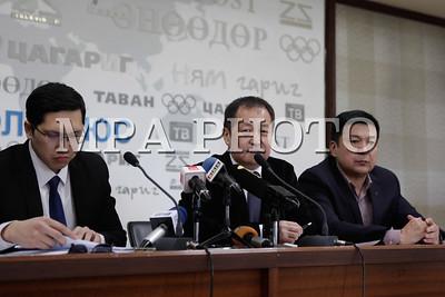"""2017 оны гуравдугаар сарын 15.""""Олимпизмыг аврах хөдөлгөөн"""" ТББ-аас мэдээлэл хийлээ. ГЭРЭЛ ЗУРГИЙГ Г.БАЗАРРАГЧАА/MPA"""