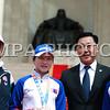 """2016 оны долоодугаар сарын 20. """"Рио-2016"""" зуны олимпийн XXXI наадам, паралимпийн XV наадамд оролцох Монголын баг, тамирчдыг үдэн гаргах ёслол Чингисийн талбайд боллоо. Ёслолын арга хэмжээнд Монгол Улсын Ерөнхийлөгч Ц.Элбэгдорж, Шадар сайд Ц.Оюунбаатар, Эрүүл мэнд, спортын сайд С.Ламбаа, УИХ-ын гишүүн Б.Бат-Эрдэнэ, Монголын үндэсний олимпийн хорооны ерөнхийлөгч Д.Загдсүрэн, Олон улсын олимпийн хорооны хүндэт гишүүн Ш.Магван, Монголын үндэсний олимпийн хорооны дэд ерөнхийлөгч, Монголын багийн ахлагч Ж.Хатанбаатар, Нийслэлийн Засаг дарга бөгөөд Улаанбаатар хотын захирагч С.Батболд болон олимпод оролцох тамирчид, үе үеийн олимпийн медальтнууд, иргэд оролцлоо.<br /> <br /> Ёслолын ажиллагааг нээж Ерөнхий сайд, Олимпийн наадамд бэлтгэх үндэсний хорооны дарга Ж.Эрдэнэбат үг хэллээ. Тэрээр,<br /> <br /> """"Монголчууд бидний хүсэл тэмүүлэл, итгэл найдварыг тээсээр """"РИО-2016"""" зуны олимпийн XXXI наадамд 42, паралимпийн зуны XV наадмыг зорих 8 тамирчнаа үдэн мордуулахад бэлэн боллоо.<br /> <br /> Хүн төрөлхтний эв нэгдэл, шударга өрсөлдөөний талбар болсон Олимпийн наадамд манай Монгол Улс 1964 оноос оролцож эхэлснээс хойш өнөөг хүртэл чөлөөт бөх, жүдо, бокс, буудлагын төрлөөр 2 алт, 9 мөнгө, 13 хүрэл нийт 24 медаль хүртсэн амжилтыг үзүүллээ.<br /> <br /> Монгол Улсын Засгийн газар, Олимпийн наадамд бэлтгэх Үндэсний хороо баг тамирчдаа олимп, паралимпийн наадамд амжилттай оролцох бүхий л нөхцөл бололцоогоор хангахад онцгойлон анхаарч ажилласан.<br /> <br /> <br /> <br /> Мөн их спортод хайртай ард түмэн, зон олон та бүхний баг тамирчдаа гэсэн урмын дэмжлэг, уухайн түрлэг, сэтгэлийн хандив чухал ач холбогдолтой байсныг онцлон тэмдэглэе.<br /> <br /> """"Рио-2016"""" олимп, паралимпийн наадамд оролцох Монголынхоо баг тамирчдыг сэтгэл санаа, санхүүгийн хувьд дэмжиж иргэд, аж ахуйн нэгж, байгууллагууд маань тамирчиддаа туслах аяныг буухиалан үргэлжлүүлсний дүнд Олимпийн хөгжлийн сангийн тэтгэлгийг баг тамирчиддаа олгож байна.<br /> <br /> Монгол Улсын Засгийн газрын тэргүүний хувьд, манай у"""