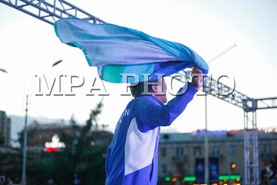 """2017 оны зургаадугаар сарын 11.""""Парис-2017"""" чөлөөт бөхийн насанд хүрэгчдийн ДАШТ-ий Монгол Улсын баг тамирчдыг сонгох сонгон шалгаруулах тэмцээн. ГЭРЭЛ ЗУРГИЙГ Г.БАЗАРРАГЧАА /MPA"""