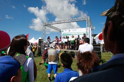"""2018 оны наймдугаар сарын 17. """"Тал нутгийн марафон-Богдхан Ултра Трайл 50км"""" олон улсын гүйлтийн тэмцээн энэ жил Богдхан уулын Шавартын аманд боллоо. Марафонд олон улсын ултра трайл гүйлтийн тамирчин, ууланд авирагч Франц улсын иргэн Карол Фүкс, Япон улсын хөл нүцгэн гүйлтийн тамирчин Ёшино Цүёши зэрэг алдартай тамирчид урилгаар хүрэлцэн ирж оролцох бөгөөд дотоодын 500 гаруй, гадаадын 200 гаруй тамирчин оролцож байна.  ГЭРЭЛ ЗУРГИЙГ Б.БЯМБА-ОЧИР/MPA"""