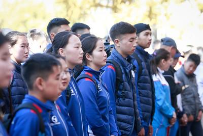 2018 оны есдүгээр сарын 24. Хүүхдийн спортын наадамд оролцох тамирчдыг үдэх ёслол боллоо. ГЭРЭЛ ЗУРГИЙГ Г.ӨНӨБОЛД/MPA