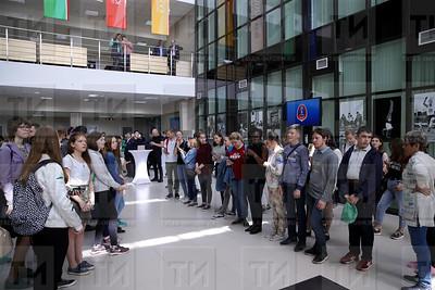 30.05.2018 - Презентация программы «Городские волонтеры» к ЧМ по футболу FIFA 2018 .   (фото Салават Камалетдинов)