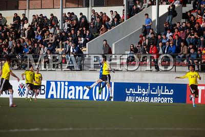"""2017 оны дөрөвдүгээр сарын 04. Азийн хөлбөмбөгийн холбооны """"AFC Cup"""" тэмцээний ээлжит тоглолт өнөөдөр Монгол-БНАСАУ-ын багуудын хооронд боллоо. ГЭРЭЛ ЗУРГИЙГ Б.БЯМБА-ОЧИР/MPA"""
