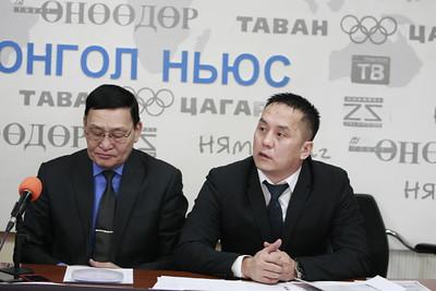 """2019 оны хоёрдугаар сарын 18. """"Маргаан эцэслэж нэгдмэл боллоо"""" хэмээн мэдэгдэж Монголын сагсан бөмбөгийн холбооноос мэдээлэл хийлээ. ГЭРЭЛ ЗУРГИЙГ Г.ӨНӨБОЛД/MPA"""