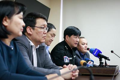 """2019 тавдугаар сарын 15. """"Улаанбаатар марафон- 2019"""" олон улсын тэмцээний талаар мэдээлэл хийлээ.ГЭРЭЛ ЗУРГИЙГ Г.ӨНӨБОЛД /МРА"""