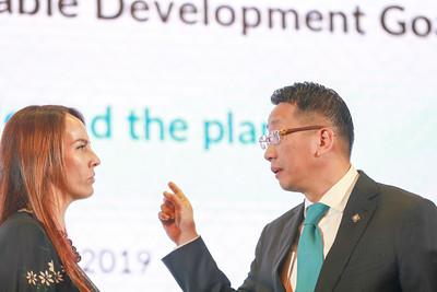 2019 оны тавдугаар сарын 28. . Тогтвортой хөгжлийн зорилгын хэрэгжилтийн асуудлаарх Олон Улсын Парламентын Холбооны Ази, Номхон далайн бүсийн хоёрдугаар чуулган.  ГЭРЭЛ ЗУРГИЙГ Б.БЯМБА-ОЧИР/MPA