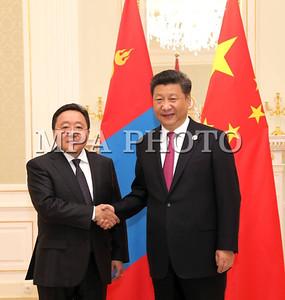 Монгол Улсын Ерөнхийлөгч Ц.Элбэгдорж БНХАУ-ын дарга Си Зиньпинтэй уулзав