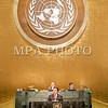 """2016 оны наймдугаар сарын 20. НҮБ-ын Ерөнхий Ассамблейн 71 дүгээр чуулганы Ерөнхий санал шүүмжлэл өнөөдөр АНУ-ын Нью-Йорк хотноо эхэллээ. Энэ өдөр Монгол Улсын Ерөнхийлөгч Цахиагийн Элбэгдорж Тогтвортой хөгжлийн 2030 хөтөлбөрийг баталсны нэг жилийн ойд зориулсан """"SDG Moment"""" өндөр түвшний арга хэмжээ болон НҮБ-ын Ерөнхий Ассамблейн Ерөнхий санал шүүмжлэлийн нээлтийн ажиллагаанд тус тус оролцлоо.<br /> <br /> НҮБ-ын Ерөнхий Ассамблейн Ерөнхий санал шүүмжлэлийг НҮБ-ын Ерөнхий нарийн бичгийн дарга Бан Ги Мүн, НҮБ-ын Ерөнхий Ассамблейн Ерөнхийлөгч Петер Томпсон нар нээсний дараа Бразил, Чад, АНУ, Словаки, Гуана, Катар, Аргентин, Франц, Малави гэх мэт дарааллаар улс орнуудын төрийн тэргүүнүүд үг хэлэв. Монгол Улсын Ерөнхийлөгч жагсаалтын 31-т үг хэллээ. Ерөнхий санал шүүмжлэлд нийт 102 улсын төрийн тэргүүн, гурван улсын дэд Ерөнхийлөгч, 49 улсын Засгийн газрын тэргүүн оролцож, үг хэлэх юм.<br /> <br /> Монгол Улсын Ерөнхийлөгч НҮБ-ын Ерөнхий Ассамблейн чуулганы Ерөнхий санал шүүмжлэлд хэлсэн үгэндээ олон улсын харилцааны тулгамдсан асуудлаар Монгол Улсын байр суурийг илэрхийлж, Монголын төр засгаас хэрэгжүүлж буй гадаад бодлогын зорилт, тэргүүлэх чиглэл, нийгэм, эдийн засгийн салбарт хэрэгжүүлж байгаа бодлого, үйл ажиллагааг танилцууллаа.<br /> <br /> НҮБ-ын Ерөнхий Ассамблейн чуулганаар олон улсын энхтайван, аюулгүй байдал, зэвсэг хураах, НҮБ-ын энхийг сахиулах ажиллагаа, хүний эрх, сайн засаглал, олон улсын эрх зүй, тогтвортой эдийн засгийн өсөлт, тогтвортой хөгжил, байгаль хамгаалал, нийгмийн хөгжил, НҮБ-аас үзүүлэх хүмүүнлэгийн тусламж, олон улсын гэмт хэрэг, терроризм, НҮБ-ын төсөв зэрэг дэлхийн улс түмний өмнө чухлаар тавигдаж буй 168 багц асуудлыг хэлэлцэж, шийдвэрлэх юм. <br /> ГЭРЭЛ ЗУРГИЙГ Б.БЯМБА-ОЧИР/MPA"""