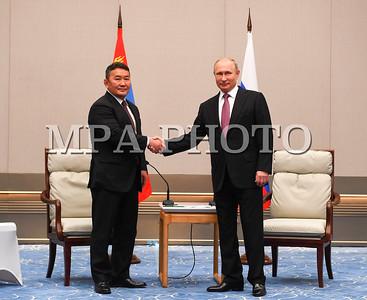 Монгол Улсын Ерөнхийлөгч Х.Баттулга ОХУ-ын Ерөнхийлөгч В.В.Путинтай уулзлаа