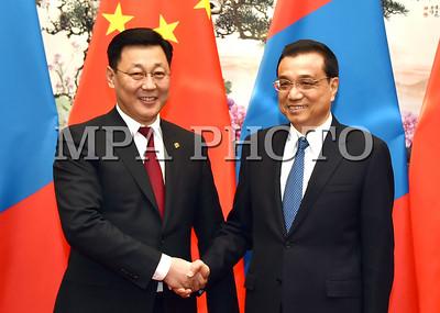 Монгол Улсын Ерөнхий сайд Ж.Эрдэнэбат, БНХАУ-ын Төрийн Зөвлөлийн Ерөнхий сайд Ли Көчян нар албан ёсны хэлэлцээ хийв