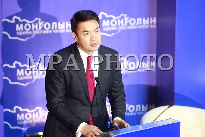 2016 оны гуравдугаар сарын 29.  Монголын эдийн засгийн чуулган 2016 төрийн ордонд болж байна. ГЭРЭЛ ЗУРГИЙГ Б.БЯМБА-ОЧИР/MPA