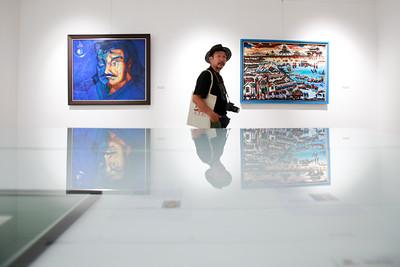 """2019 есдүгээр сарын 07. """"Зураач, уран бүтээлчдийн нээлттэй урлан"""" үзэсгэлэн . ГЭРЭЛ ЗУРГИЙГ Г.ӨНӨБОЛД /МРА"""