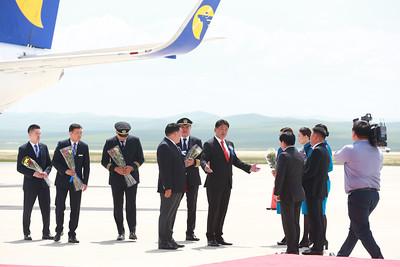2019 оны долдугаар сарын 05.  Улаанбаатар хотын олон улсын шинэ нисэх буудлын менежментийг эхлүүлэх ёслолын ажиллагаа боллоо.   ГЭРЭЛ ЗУРГИЙГ Б.БЯМБА-ОЧИР/MPA