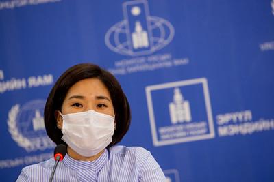 2021 оны наймдугаар сарын 27. ЭМЯ-наас коронавирусийн талаар мэдээлэл хийлээ.    ГЭРЭЛ ЗУРГИЙГ Б.БЯМБА-ОЧИР/MPA