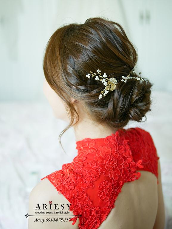 文定新秘,訂婚髮型,新娘秘書,台灣杭州新娘跟妝,旗袍禮服,中國風新娘,ariesy