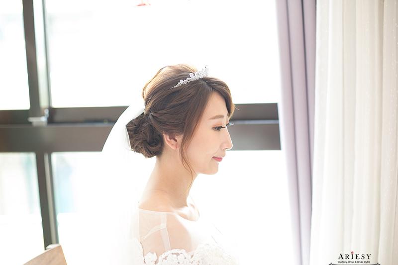迎娶造型,台灣杭州新娘跟妝,新娘白紗造型,新娘髮型,愛瑞思,ariesy