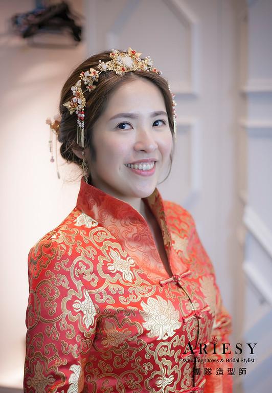 敬酒造型,中式新娘造型,新娘祕書,新娘造型,新祕,復古造型