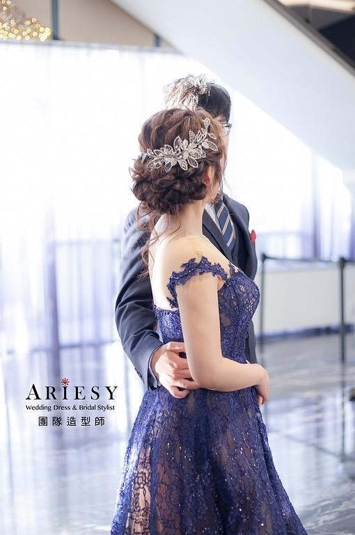 送客造型,蓬鬆編髮造型,新娘造型,新祕,新娘祕書,清透妝感