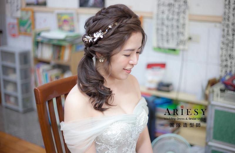 類婚紗造型,編髮造型,新娘造型,新祕,新娘祕書,清透妝感