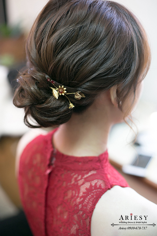 文定新娘造型,新秘,愛瑞思,Ariesy,短髮新娘造型編髮,新秘推薦