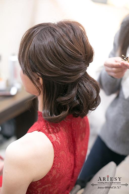 新秘,愛瑞思,Ariesy,短髮新娘造型編髮,新秘推薦,新娘秘書