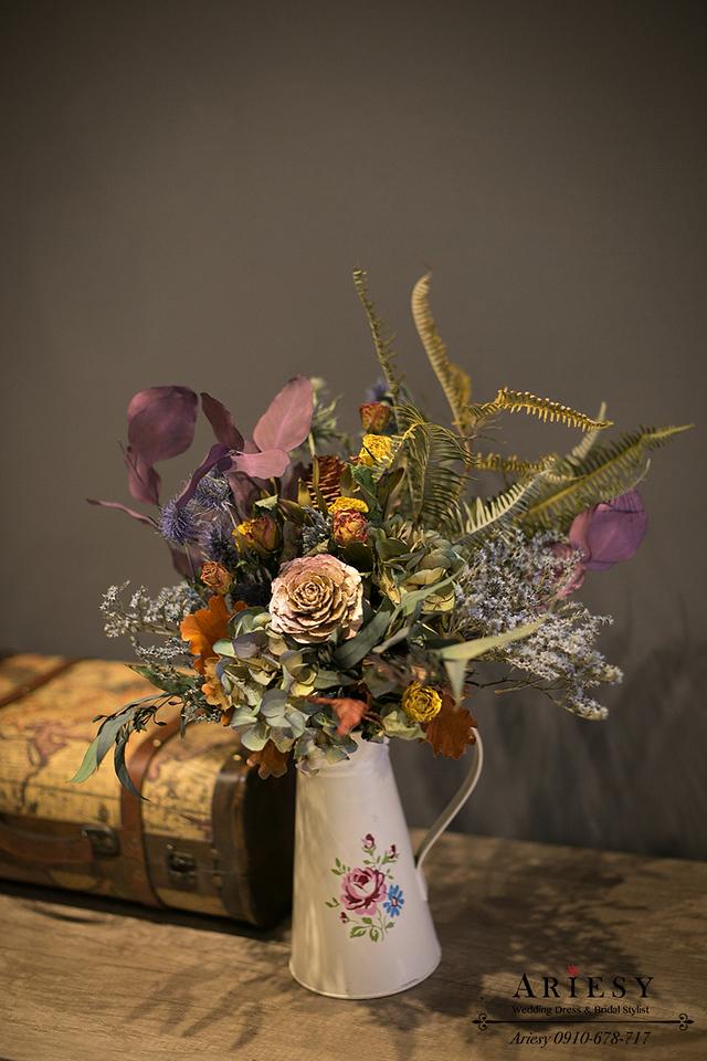 新娘捧花,乾燥花捧花,婚紗捧花,歐美新娘捧花,ariesy