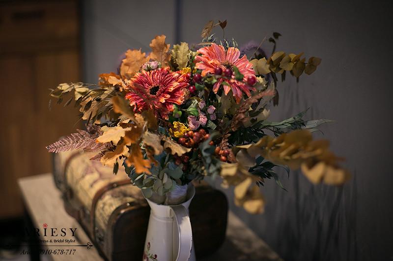愛瑞思,乾燥花捧花,婚紗捧花,歐美新娘捧花,ariesy