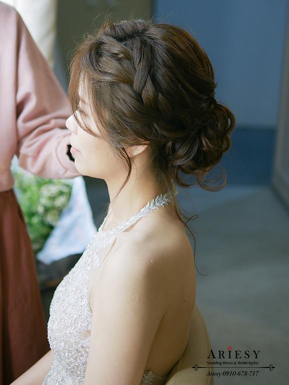 韓系清透新娘妝感,歐美新娘秘書,文定編髮新娘造型,愛瑞思,ariesy,北部新秘