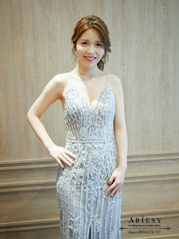 時尚新娘風格,韓系清透新娘妝感,歐美新秘,馬尾新娘造型,愛瑞思,ariesy