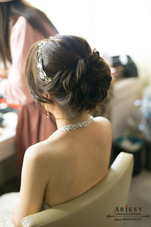時尚新娘妝感,歐美新秘,編髮新娘造型,愛瑞思,ariesy,北部新娘秘書