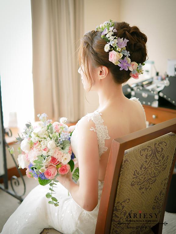 愛瑞思,ARIESY,鮮花新娘造型,鮮花新秘,北部新娘秘書,新娘捧花