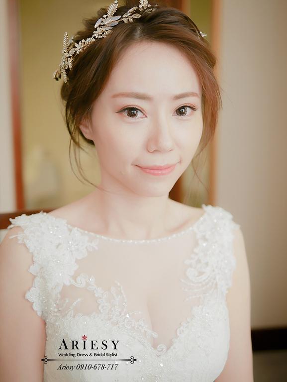 愛瑞思,ARIESY,北部新娘秘書,新娘自然妝感,白紗造型,新娘自然眼妝