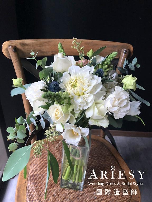 自然清透妝感,白紗造型,馬尾造型,南部新娘,時尚新娘