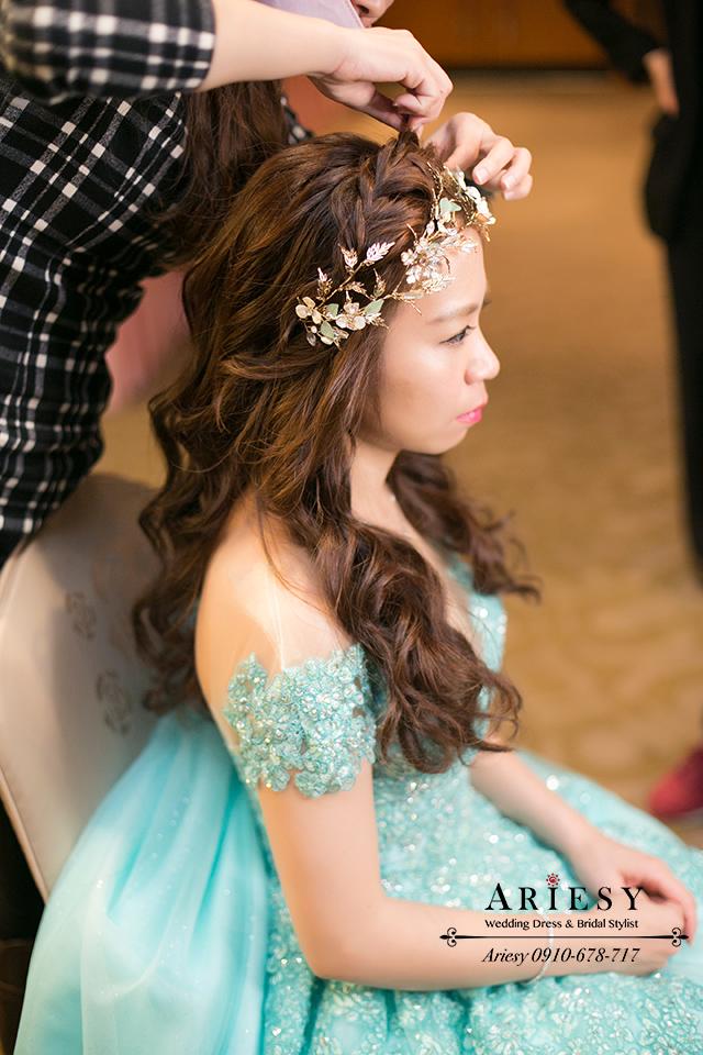 森林系公主造型、新娘秘書、歐美風新秘、新娘髮型、台中新秘