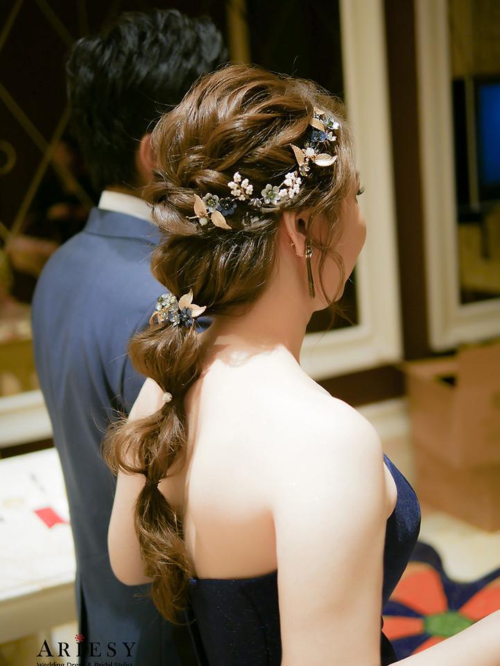 新娘秘書作品,台中新娘秘書,編髮造型,新娘造型,新娘髮型,Ariesy新娘秘書