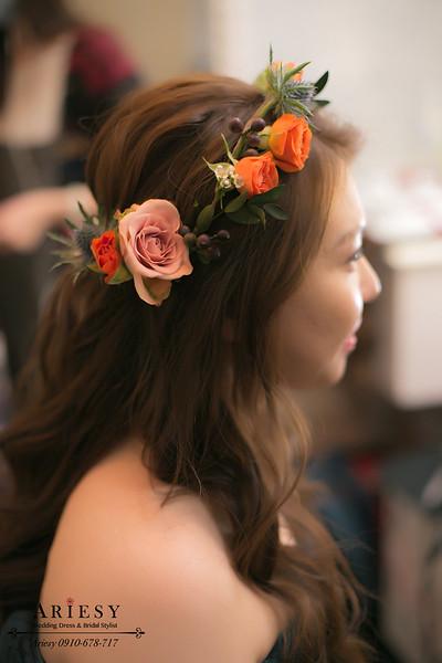 新娘秘書,鮮花新秘,新秘作品,鮮花造型,送客造型,花圈造型