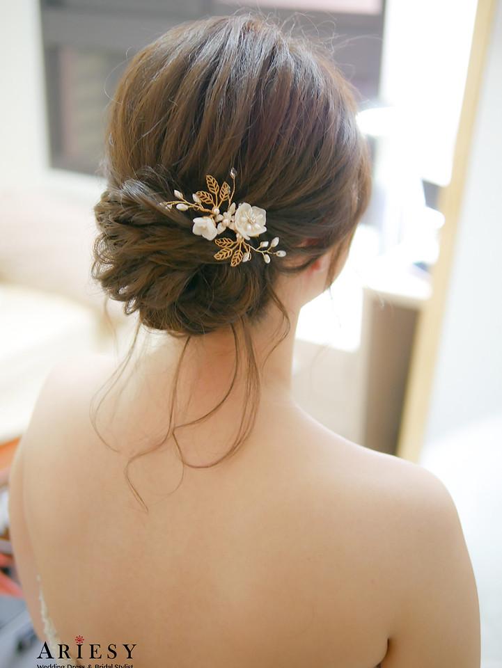 新秘,台中新秘,戶外婚禮,白紗造型,中僑婚宴會館,新娘髮型